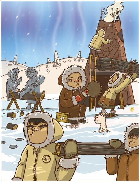 Ироничные иллюстрации Сергея Ратникова. Изображение № 10.