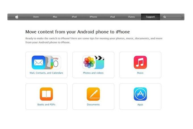Apple написала инструкцию для перехода с Android на iPhone. Изображение № 1.
