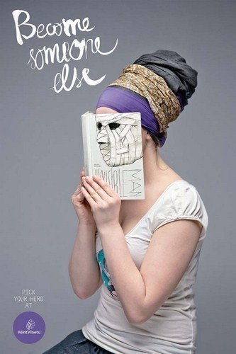 Изображение 3. Книжные обложки вместо лиц.. Изображение № 3.