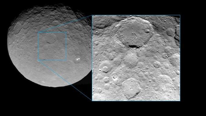 Фото дня: кратеры на поверхности Цереры . Изображение № 1.