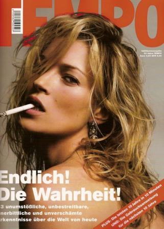 Кейт Мосс, наобложках главных модных журналов планеты. Изображение № 27.