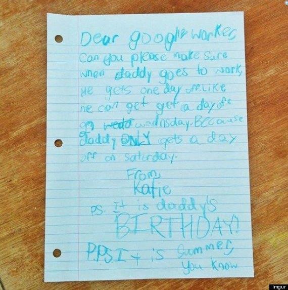 Фотография письма Кэти. Изображение № 1.