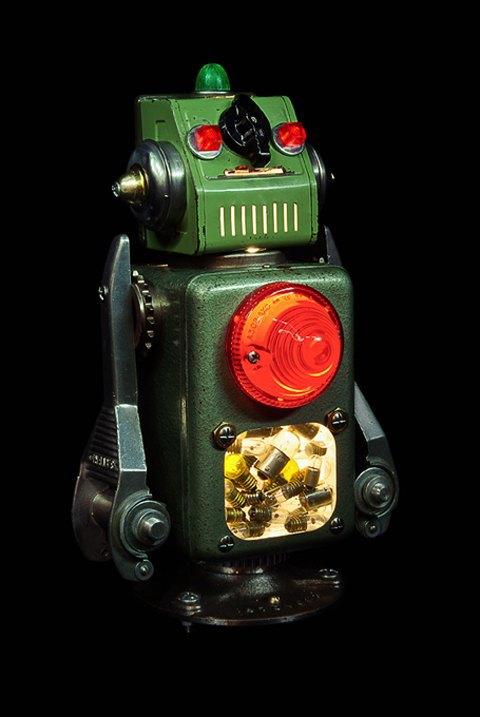 Фото: забавные роботы из промышленного мусора . Изображение № 6.