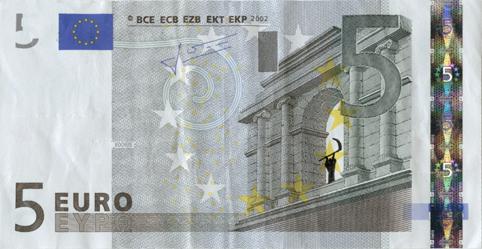 Художник в знак протеста изрисовал банкноты на 3555 евро. Изображение № 50.