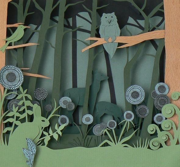 Бумажные картины-аппликации Helen Musselwhite. Изображение № 32.