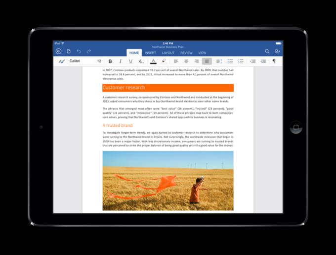 Microsoft выпустила Office для iPad . Изображение № 1.