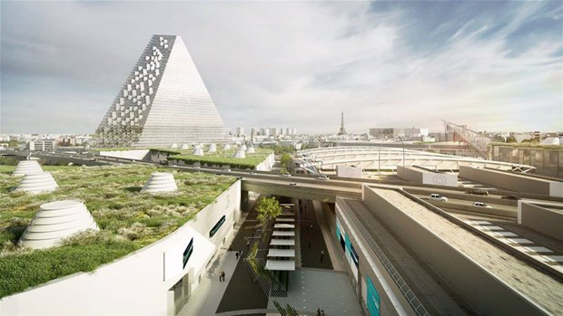 В Париже согласились строить небоскрёб-треугольник. Изображение № 1.