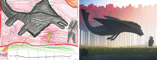 Художники создали монстров наоснове детских рисунков. Изображение № 4.