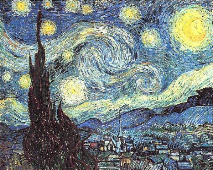 «Звездная ночь» Винсента ван Гога. Изображение № 1.