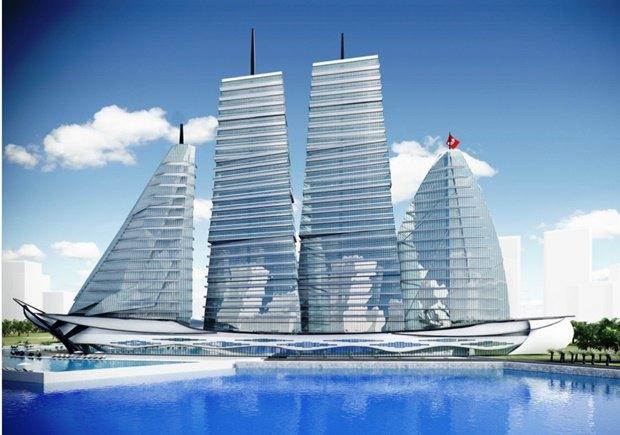 Российский архитектор показал больницу-небоскрёб в виде яхты. Изображение № 6.