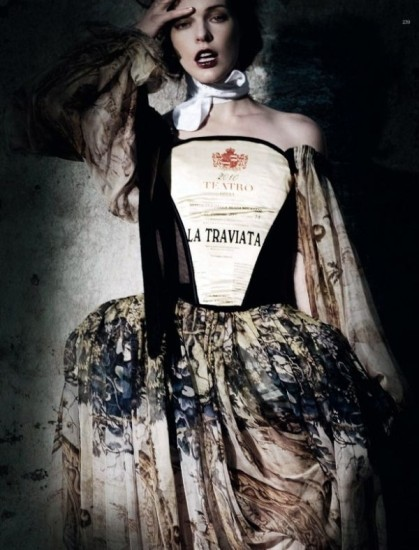 Mila Jovovich. Harper's Bazaar, sept-2009. Изображение № 2.