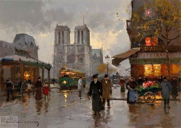 Эдуард Леон Кортес. Перенесёмся в Париж. Изображение № 10.