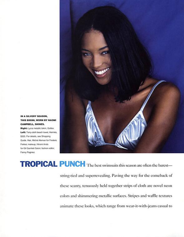 Архивная съемка: Наоми Кэмпбелл для американского Elle, 1994. Изображение № 6.