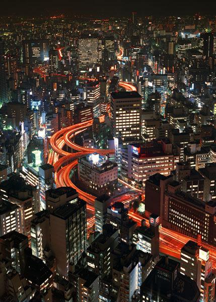 Мегаполисы ночью Гонконг, Дубаи, Нью-Йорк, Шанхай. Изображение № 22.