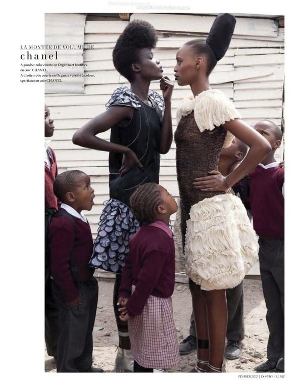 Съёмка: Шанель Иман для L'Officiel. Изображение № 15.
