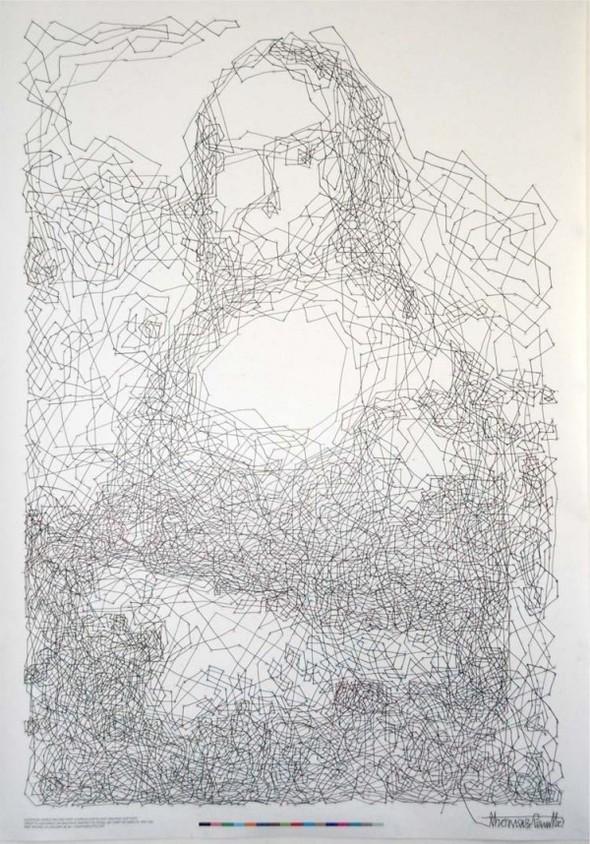 """Рекорд Гиннеса: """"Мона Лиза"""" в 6 239 точках. Изображение № 7."""