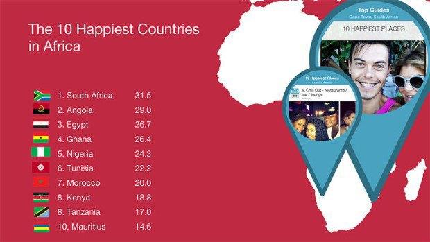 Instagram помог определить самые счастливые страны. Изображение № 3.