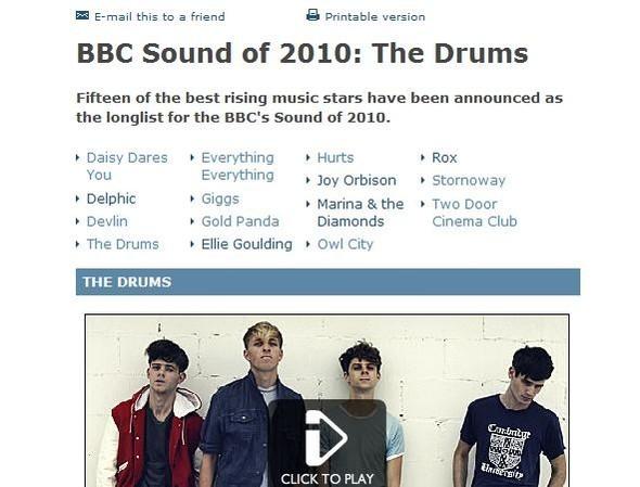 BBC: Лучшие молодые группы. Изображение № 1.
