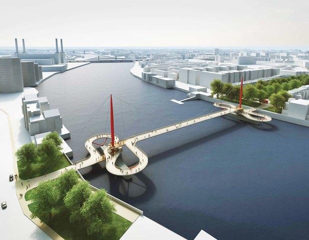 Выложены 74 проекта нового моста через Темзу. Изображение № 25.