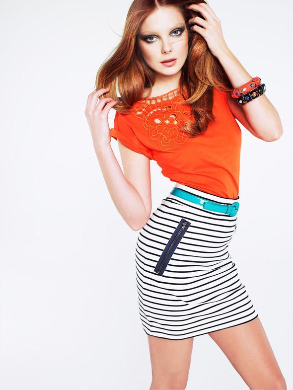 Изображение 3. Лукбук: Mango Color & Stripes.. Изображение № 3.