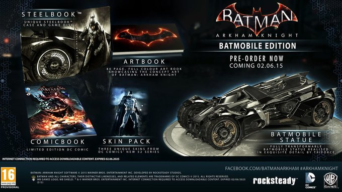 Warner Bros назвала дату выхода Batman: Arkham Knight. Изображение № 1.