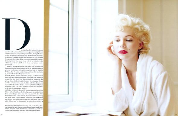 Съёмка: Мишель Уиллиамс для Vogue. Изображение № 2.