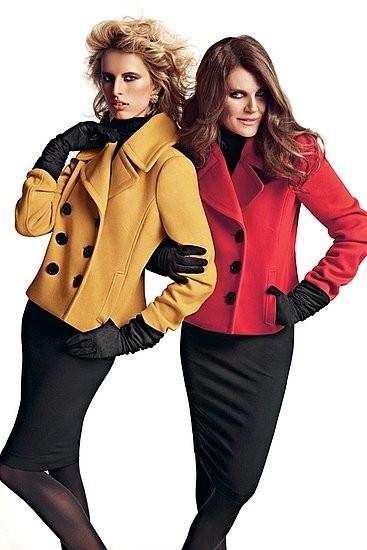 Анна Делло Руссо и Каролина Куркова в кампании I.N.C. Изображение № 2.