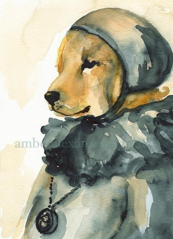 Изображение 44. Amber Alexander - животные, сияющие акварелью.. Изображение № 42.