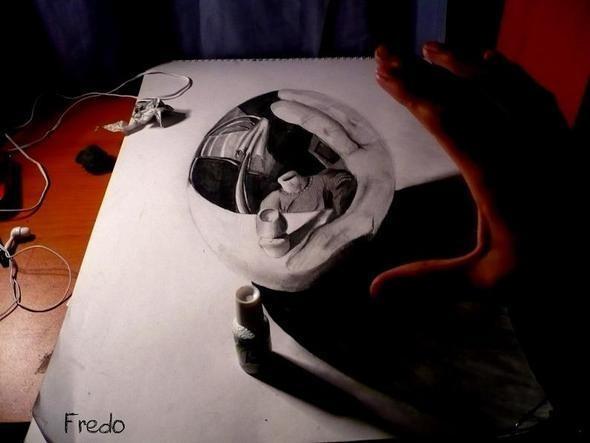 """Изображение 6. Реалистичные 3D рисунки """"в карандаше"""".. Изображение № 6."""