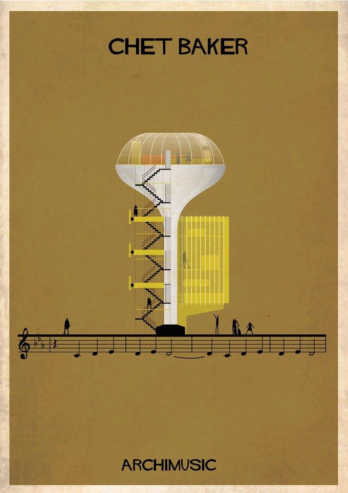 Испанский архитектор превратила песни в здания для новой серии плакатов . Изображение № 12.