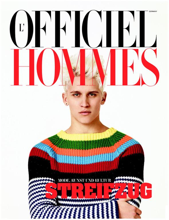 Изображение 1. Обложки: L'Officiel Hommes, Numero и другие.. Изображение № 1.