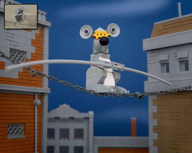 Работы Бэнкси воссоздали в конструкторе LEGO. Изображение № 6.
