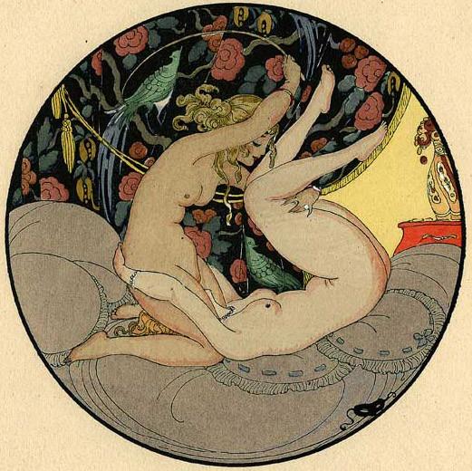 Gerda Wegener, лесбийская эротика в миниатюре. Изображение № 1.