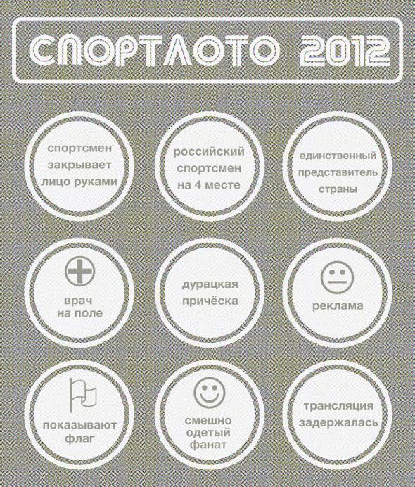 Спортлото-2012: Настольная игра по мотивам олимпийских трансляций . Изображение № 9.