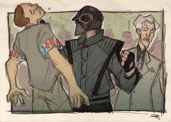 Дизайнер представил героев «Звёздных войн» в стиле 80-х. Изображение № 8.