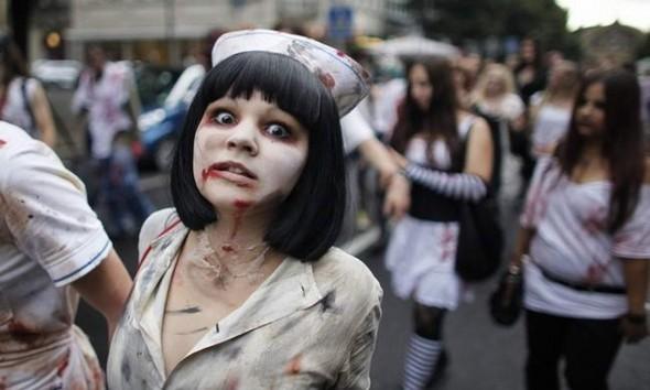 ВоФранкфурте прошел парад зомби. Изображение № 10.