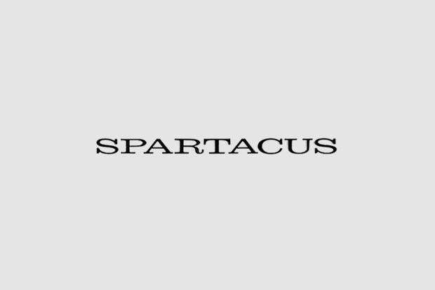 Логотип из титров или трейлера фильма «Спартак». Использованы Clarendon, Franklin Gothic, рукописный . Изображение № 39.