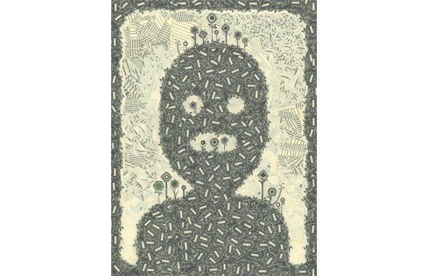 Художник создаёт коллажи из долларов. Изображение № 10.
