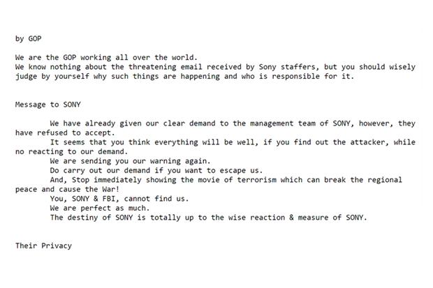 Хакеры приказали Sony запретить «фильм о терроризме». Изображение № 1.