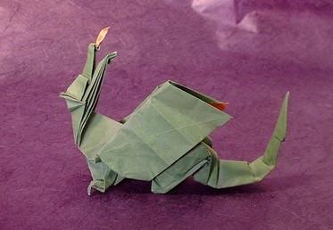 Новогодние драконы в технике оригами. Изображение № 4.