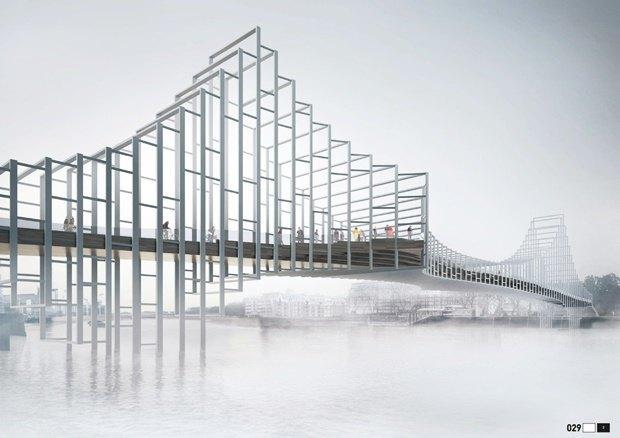 Выложены 74 проекта нового моста через Темзу. Изображение № 30.