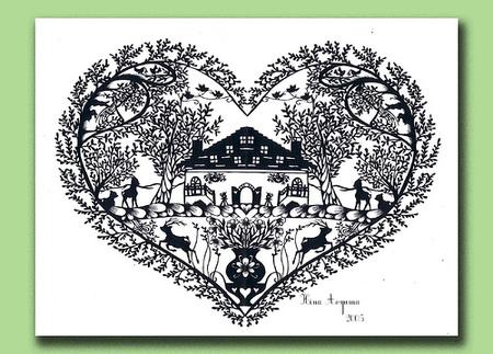 Вырезанные избумаги картины – Hina Aoyama. Изображение № 1.