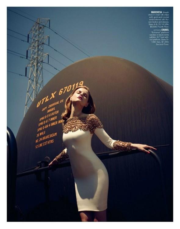 Съёмка: Жиневье ван Синус для Bergdorf Goodman. Изображение № 21.