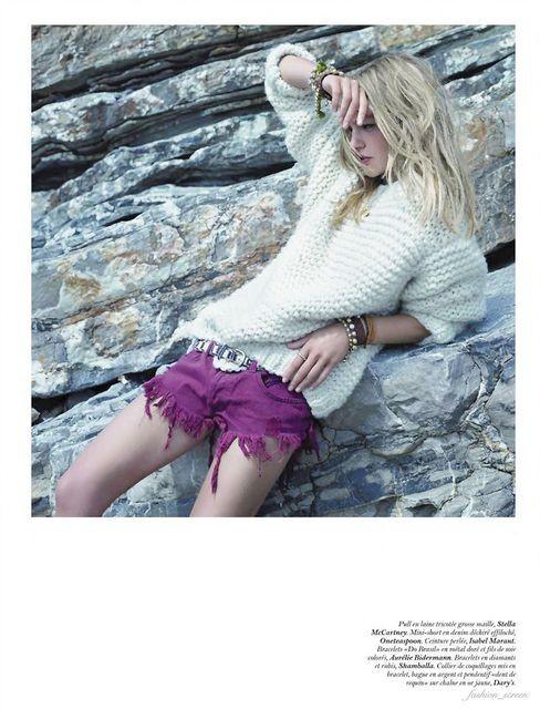 Съёмка: Саша Пивоварова и Наташа Поли для французского Vogue. Изображение № 11.