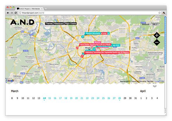 Изображение 1. A.N.D — новый интерактивный гид по культурным событиям.. Изображение № 2.