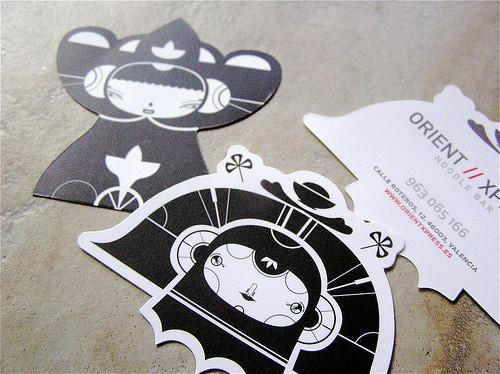 Изображение 55. 69 визиток, которые хочется подержать в руках.. Изображение № 55.