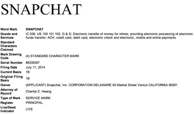 Snapchat собирается открыть сервис мобильных платежей. Изображение № 1.