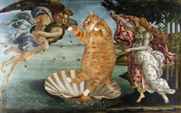 Новый взгляд на полотна великих художников. В главной роли кот. Изображение № 16.