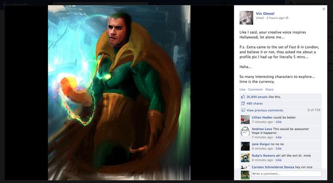 Вин Дизель сыграет в экранизации комикса Marvel. Изображение № 2.