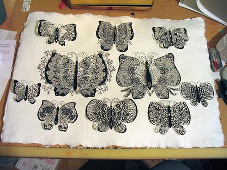 Вырезанные избумаги картины – Hina Aoyama. Изображение № 16.